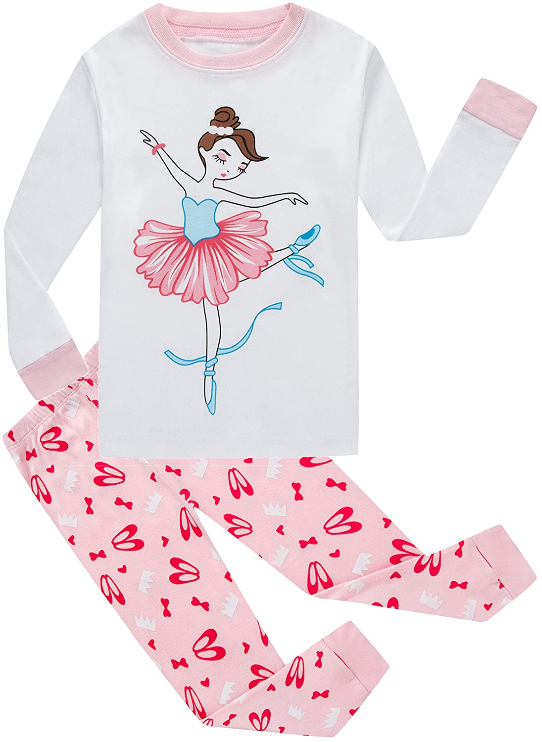 Little Girls Pajamas Christmas Cotton Clothes Gift Children Sleepwear Kids PJS Shirt Pants Set