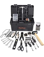 VonHaus Household Tool Set 170pc Rose Gold - Everyday DIY & Odd Jobs – Includes Small Handsaw, Hammer, Scissors, Spirit Level & More