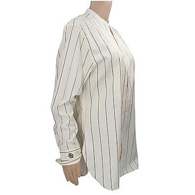 Polo Ralph Lauren Chemise Femme Size 50 14 Blanc Noir Coton  Amazon ... fd5dafaae35