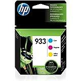 HP 933 青色、品红色和黄色原装墨盒,3 盒(CN058AN、CN059AN、CN060AN)适用于 HP Officejet 6100 6600 6700 7110 7510 7610 7612
