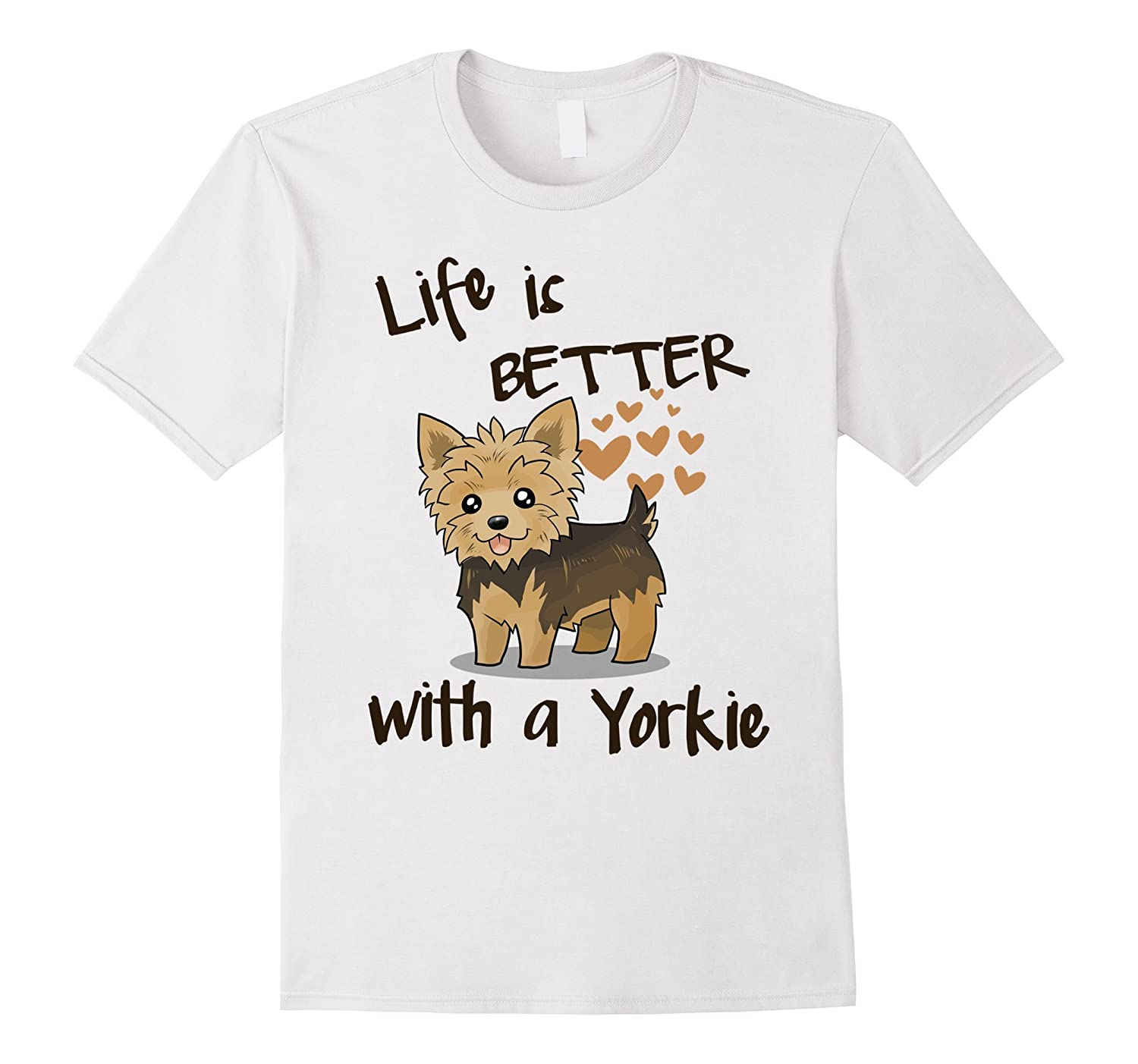 437681f3 Yorkie T-shirt , Lifes better with a Yorkie-CL – Colamaga