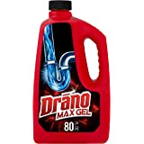 Drano Max Gel Drain Clog Remover and Cleaner for Shower or Sink Drains, Unclogs and Removes Hair, Soap Scum, Blockages…