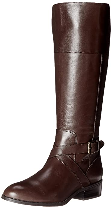RALPH LAUREN Women's Maryann, Dark Brown, 8.5 B US best women's knee-high boots