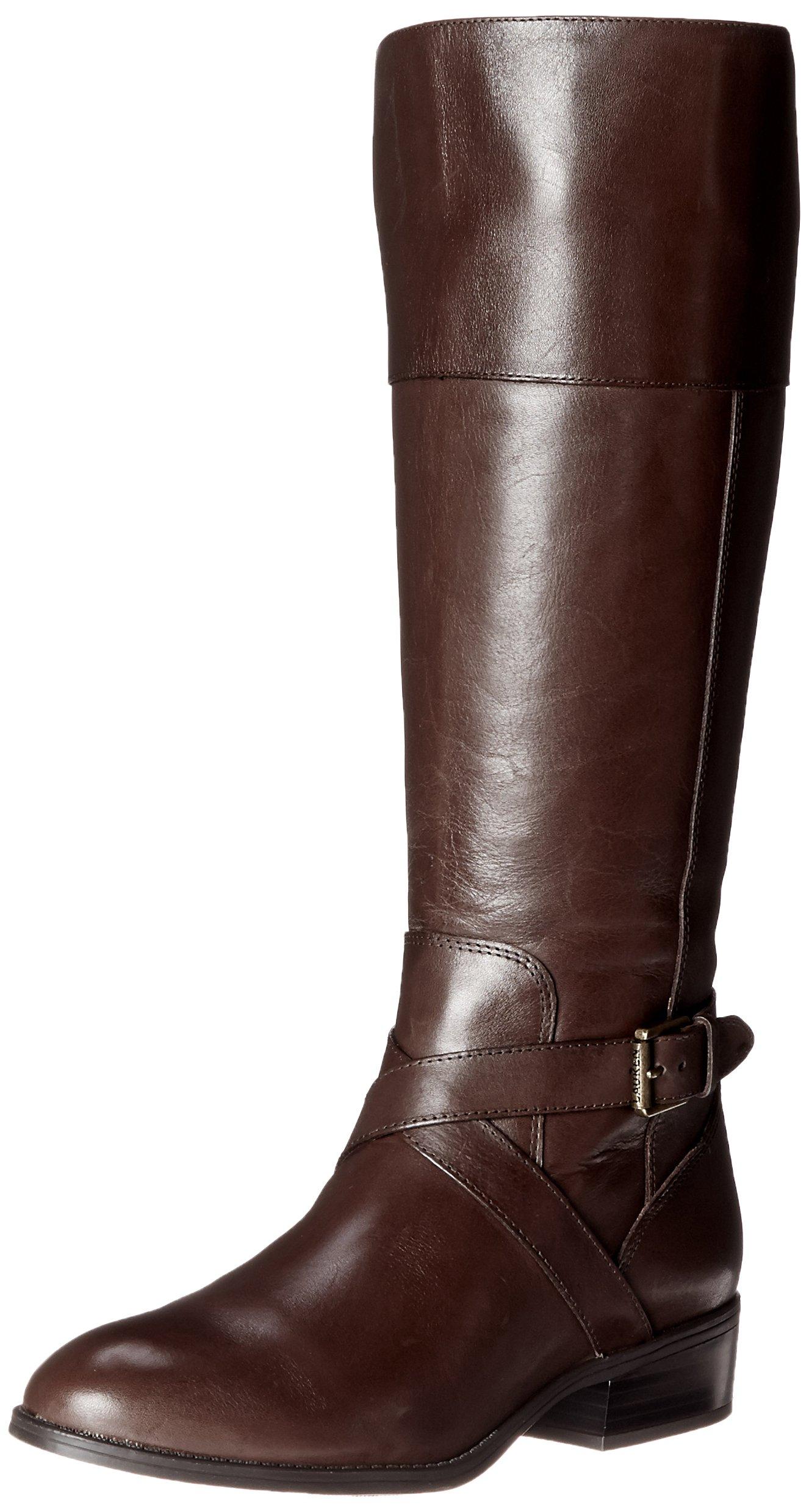 Lauren Ralph Lauren Women's Maryann Riding Boot, Dark Brown, 9 B US by Lauren by Ralph Lauren