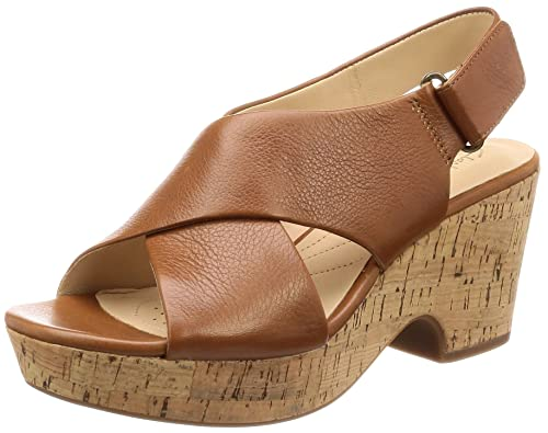 b57cf0c0f373d1 Clarks Women s Maritsa Lara Tan Leather Fashion Sandals-5 UK India (38 EU