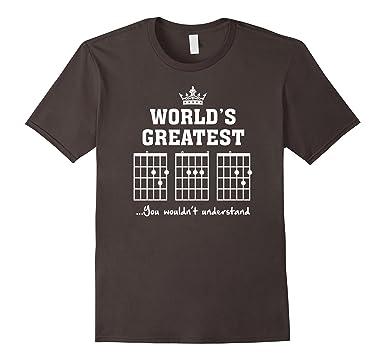 c7da6e1a5 Men's F chord DAD funny guitar T shirt - Unique Father's Day Gift 3XL  Asphalt
