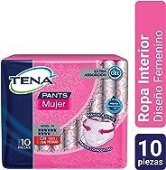 TENA Pants Comfort; Ropa Interior Desechable para Incontinencia, Talla CH/M; TENA; 10 Piezas
