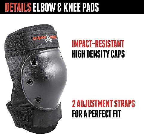 Triple 8 Saver 3//Pk Pads Lg Knee//Elbow//Wrist