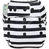 GroVia O.N.E. Baby Cloth Diaper (Onyx Stripe)