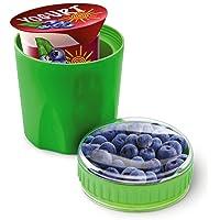 Fit & Fresh Contenedor para yogurt frío y meriendas, reutilizable, sin BPA, a prueba de fugas, almacenaje de aperitivos secos, congelable, niños, adultos, hombres, mujeres