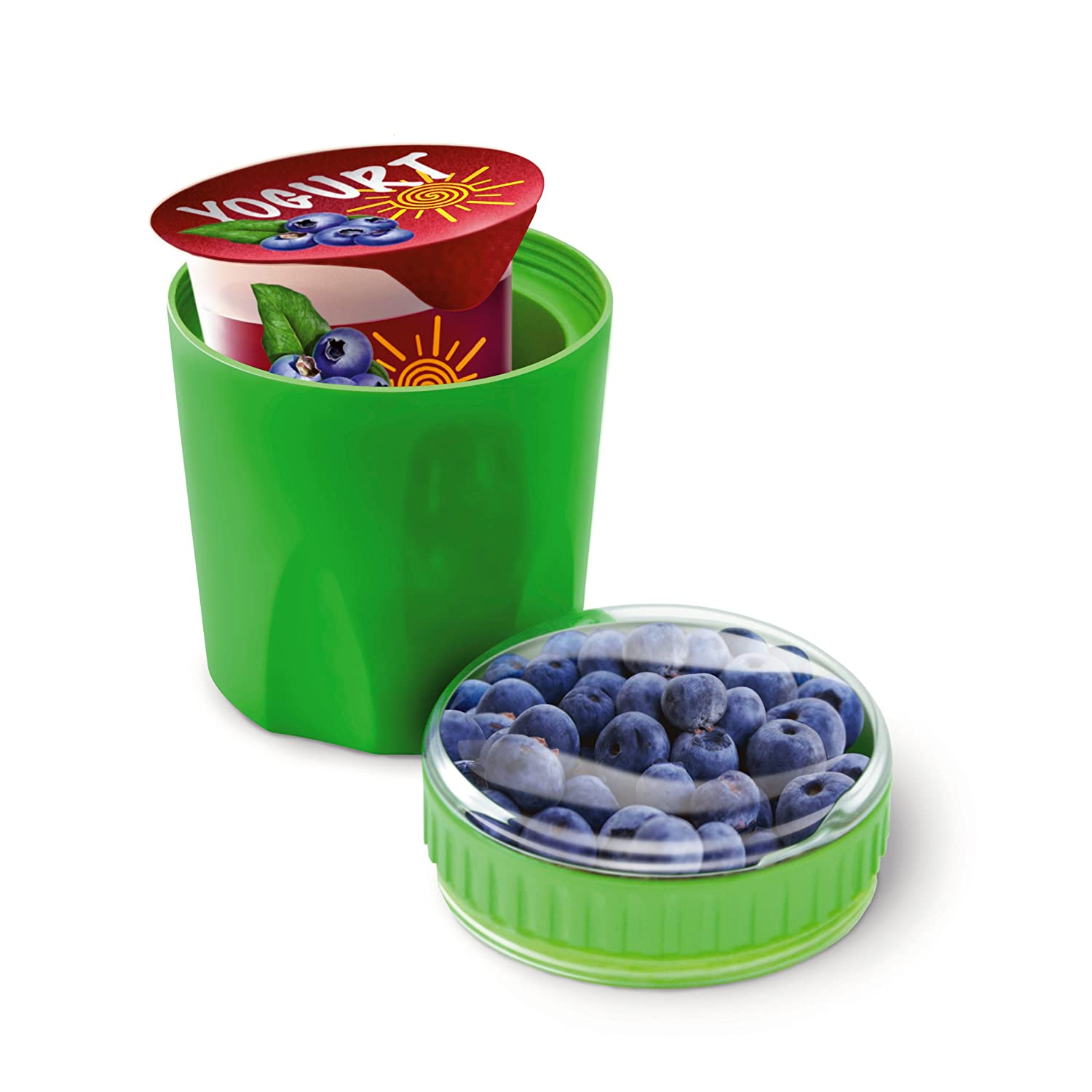 Amazoncom Fit Fresh Chilled Yogurt and Snack Container Reusable