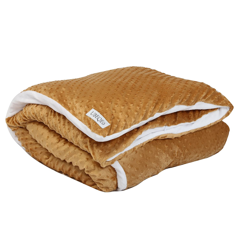 Amazon.com: UBEQEO Removable Sensory Heavy Gravity Weighted Blanket ...