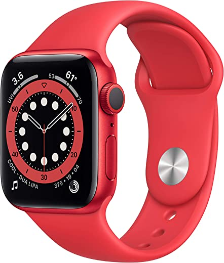 New Apple Watch Series 6 (GPS, 40mm) - Product(RED) - Aluminum Case with Product(RED) - Sport Band