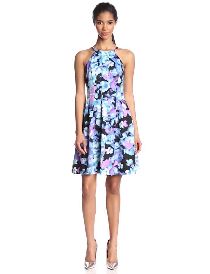 Print Halter Dresses