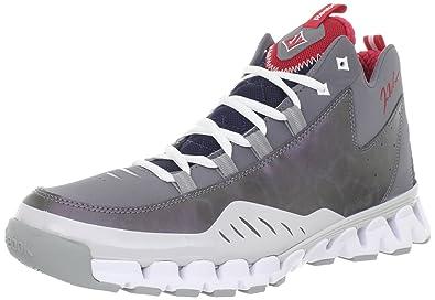 Reebok Men's Wall Season 3 Zig Escape Basketball Shoe, Shark/Steel/Grey/Navy/White/Red, 9.5 M US