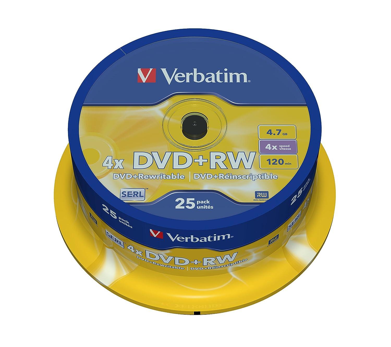 Pack de 25 Cvd+RW 4.7Gb 4x Verbatim