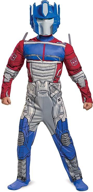 תחפושת Optimus Prime, תחפושת שנאי שרירים לבנים, סרבל עם 104919L