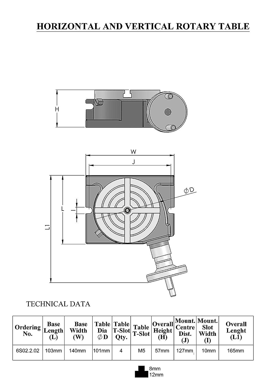 Teilapparat /Ø 100 mm Horizontal-Vertikal-Mini-Rundteiltisch