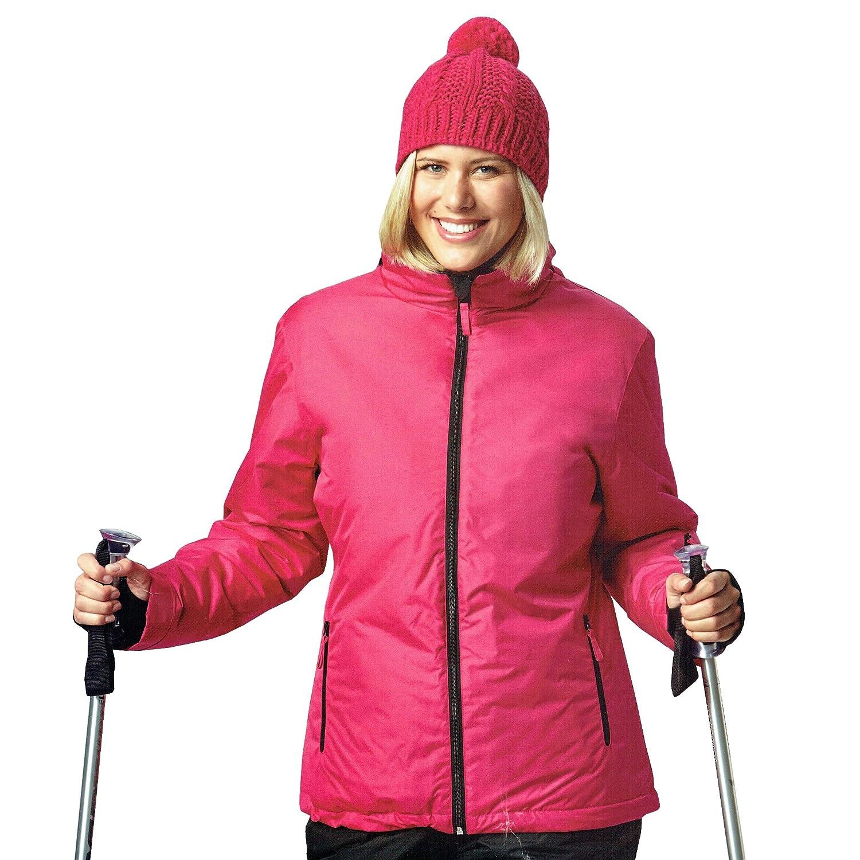 DS Damen Skijacke Snowboardjacke Jacke Wind und wasserdicht Ski Rosa Öko-Tex (M (48/50))