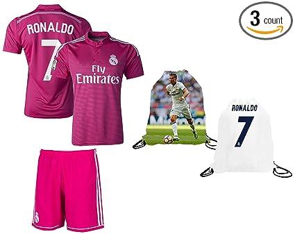 60dcd336c Fan Kitbag Cristiano Ronaldo Soccer Jersey   Shorts  7 Pink Kids Premium  Gift Kitbag ✮