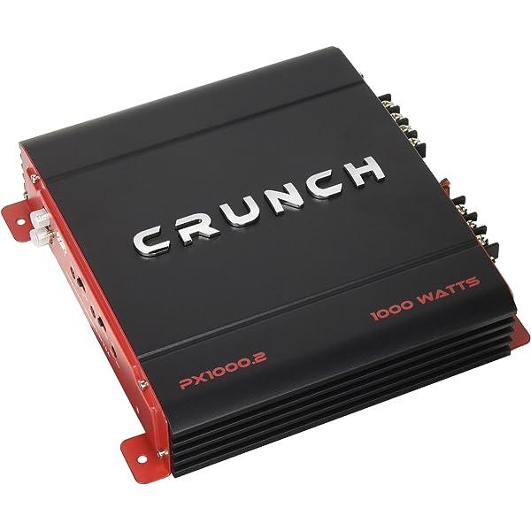 Crunch PX1000.2 1000 Watt POWERX Series 2-Channel AB Class Car Audio Amplifier