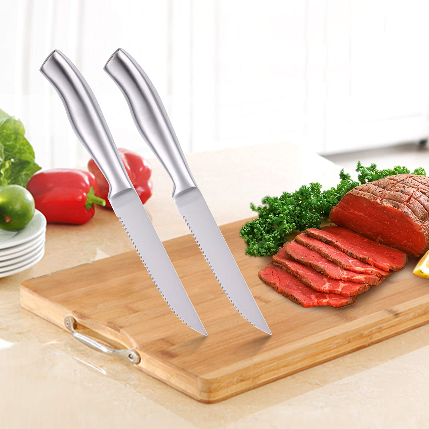 isheTao 6-Piece Steak Knives Set