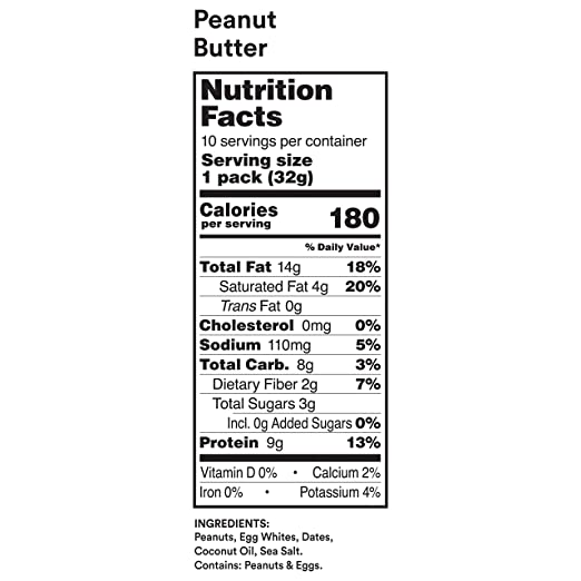 RXBAR, RX Nut Butter, Peanut Butter, Low Carb, Keto Friendly, No Added  Sugar, Gluten Free, 10