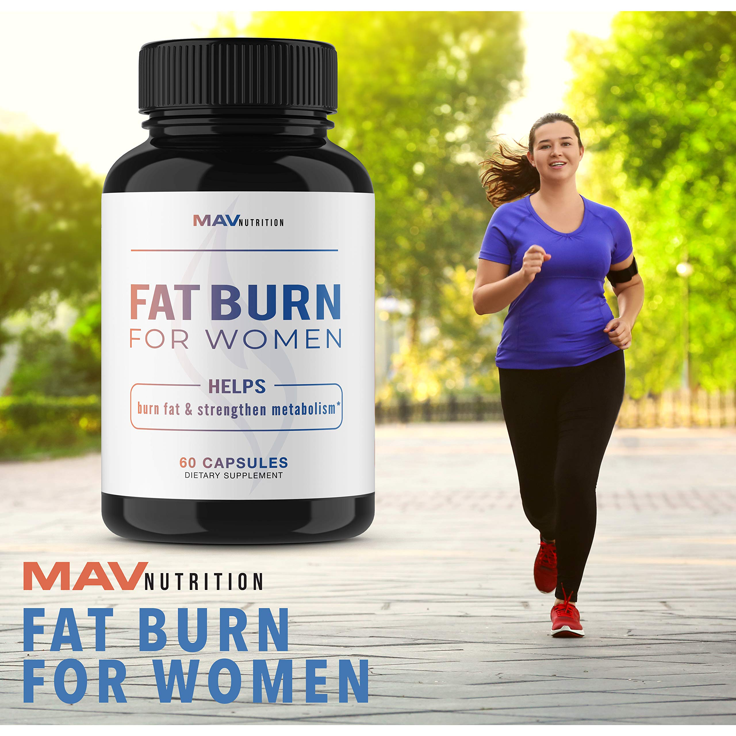 Womens Fat Burner Weight Loss Pills Designed for Increasing Healthy Metabolism, Supporting Energy Levels, Fat Loss, and Increasing Tone; Non-GMO, Gelatin-Free; 60 Vegetarian Capsules for Women by MAV NUTRITION (Image #8)