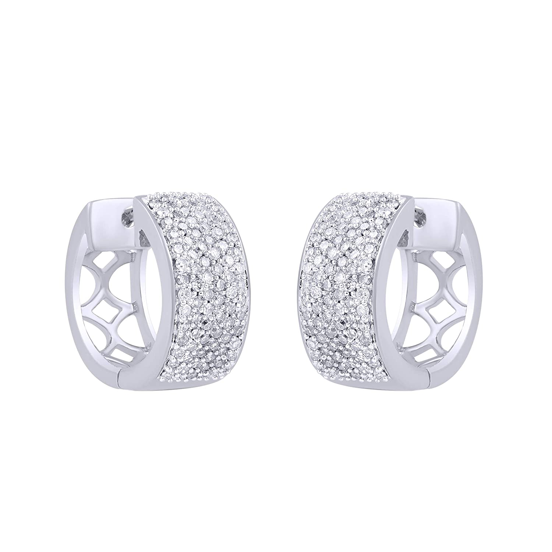 Amazon com: 1/2 Carat Natural Diamond Earrings 14K Rose Gold (H-I