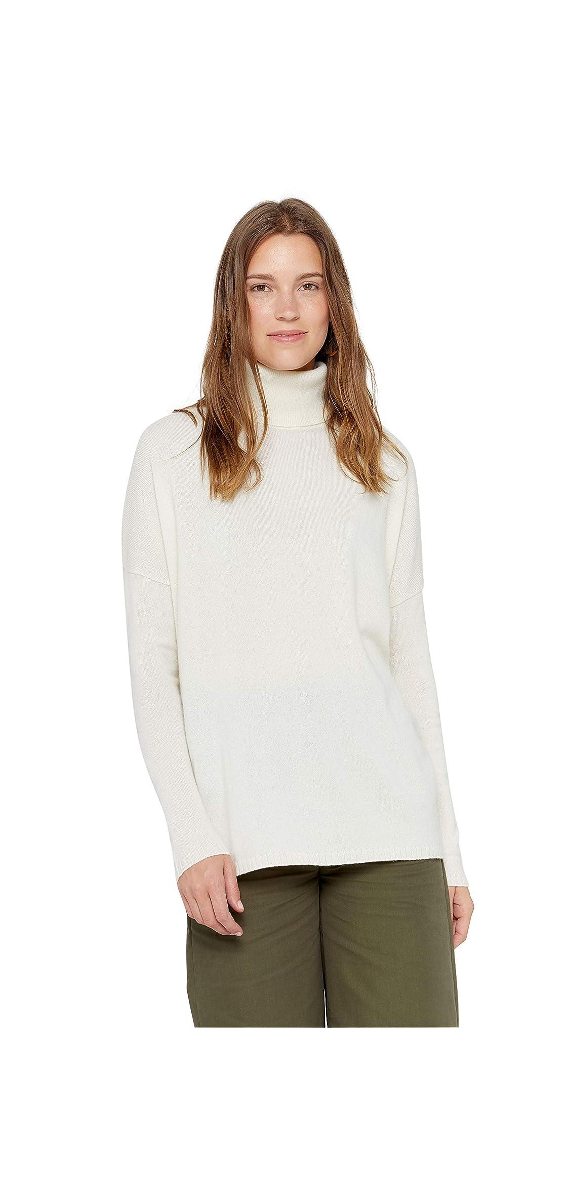 Oversized Turtleneck Tunic Sweater  Pure Long