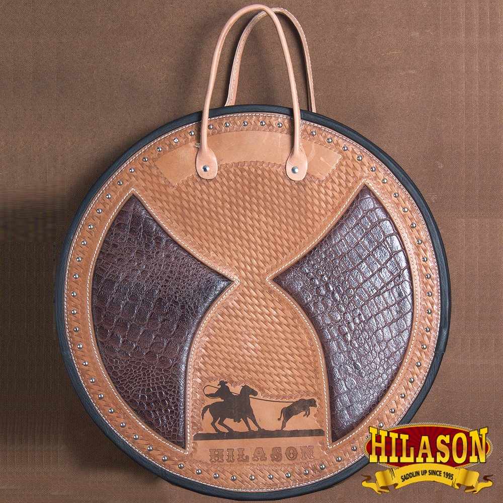 HILASON GENUINE LEATHER HAND TOOLED ROPE BAG