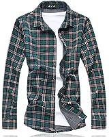 OnIn Plaid shirt camisetas Long shirt men Cotton+Polyester Fashion Floral mens shirts NEW spring