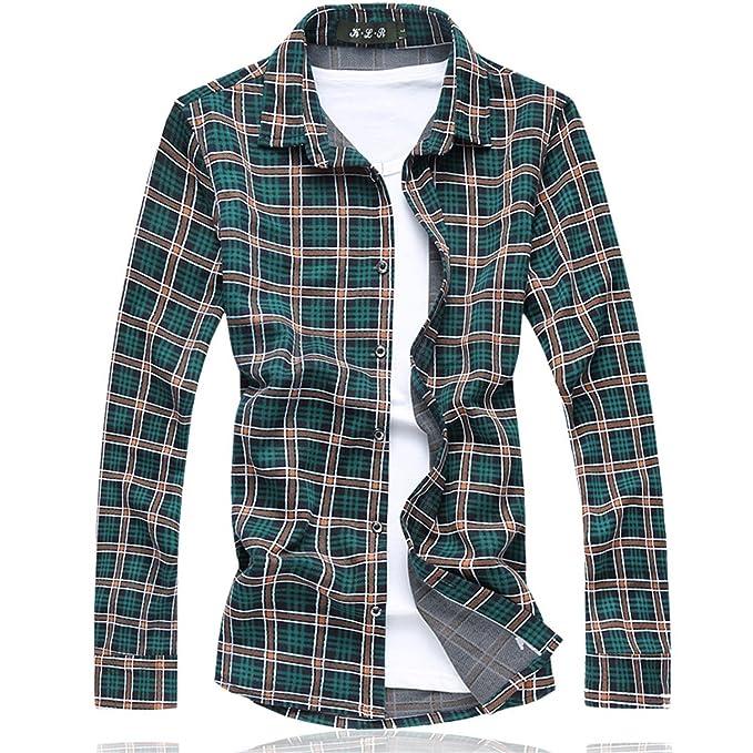 5301236231f31 Shining4U Plaid shirt camisetas Long shirt men Cotton+Polyester Fashion  Floral mens shirts NEW spring