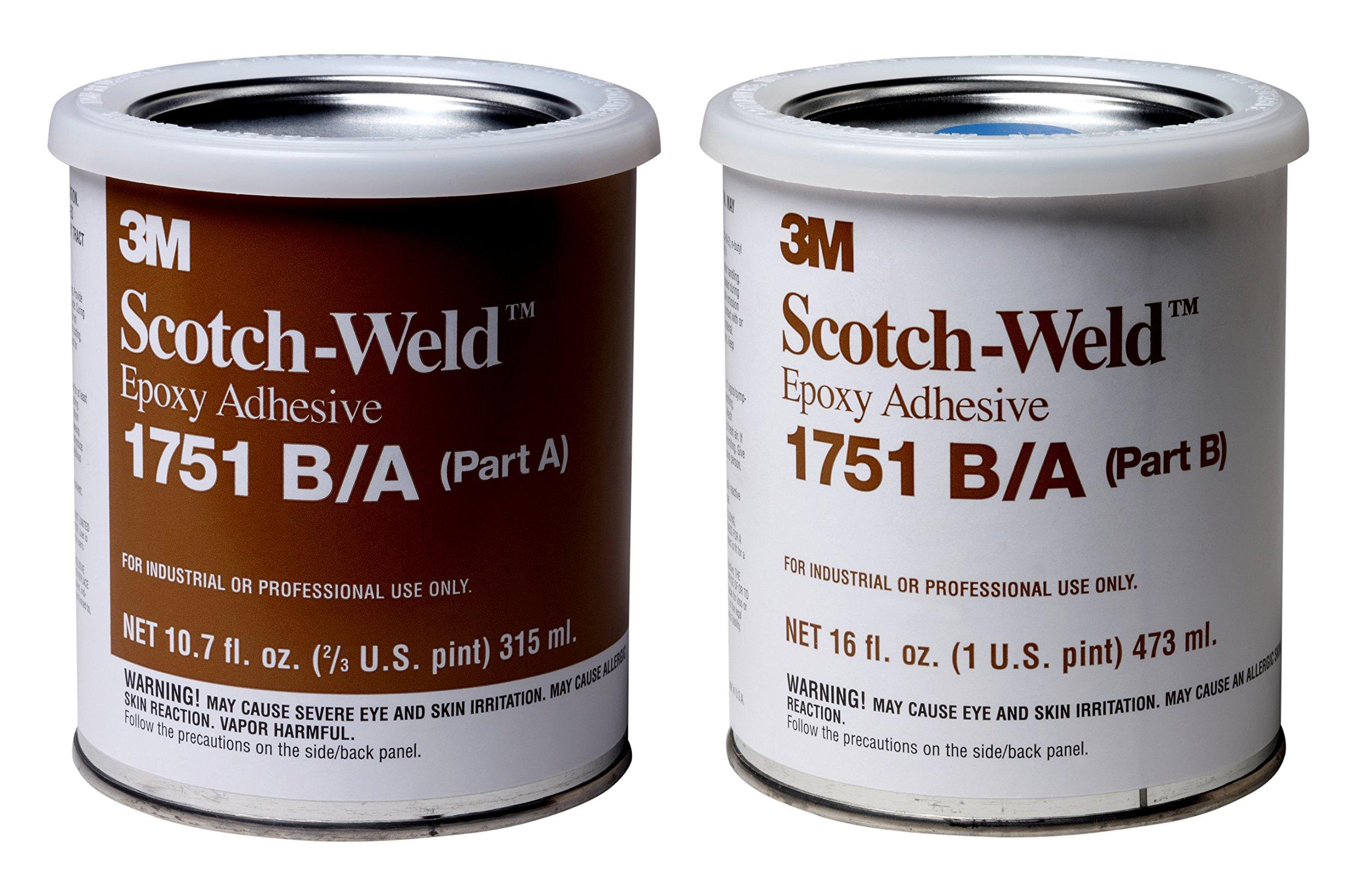 3M Scotch-Weld 20101 Epoxy Adhesive 1751 Part B/A, Gray, 1 pint Kit