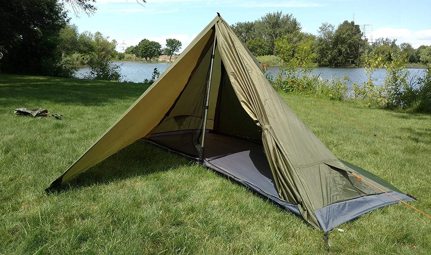 River Country Products Trekker Tent 1 Combo Pack with Trekking Poles, Ultralight Backpacking Tent