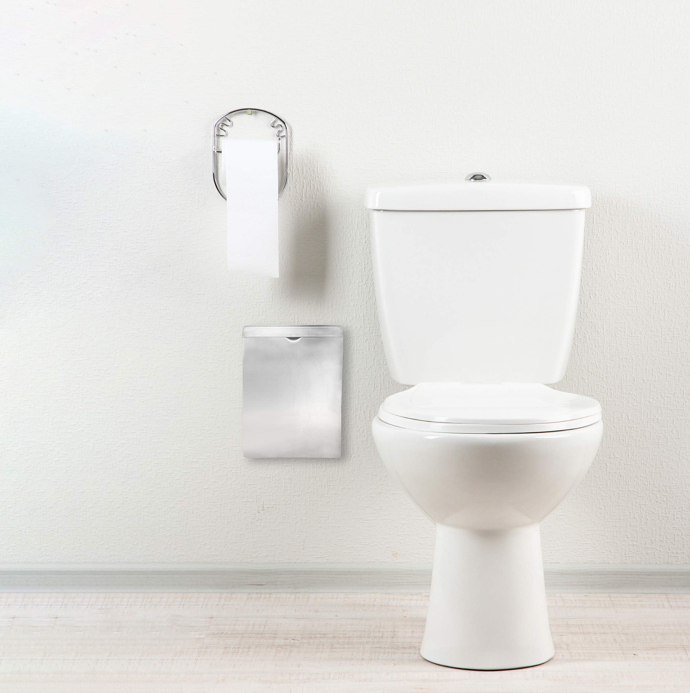Alpine Industries Sanitary Napkin Receptacle - Easy Install, Wall Mounted Container - Provides Clean & Odor-Free Restroom for Home & Public Restrooms by Alpine Industries (Image #6)
