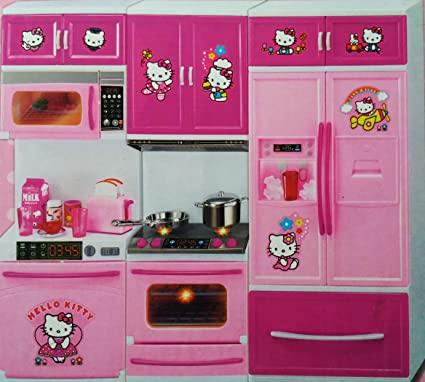 Kiti Kits Kitchen Set KBattery Operated Kitchen Set Toy With Light And  Sound   Pink