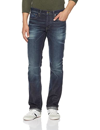 Jack & Jones Men's Clark Straight Fit Stretchable Jeans Men's Jeans at amazon