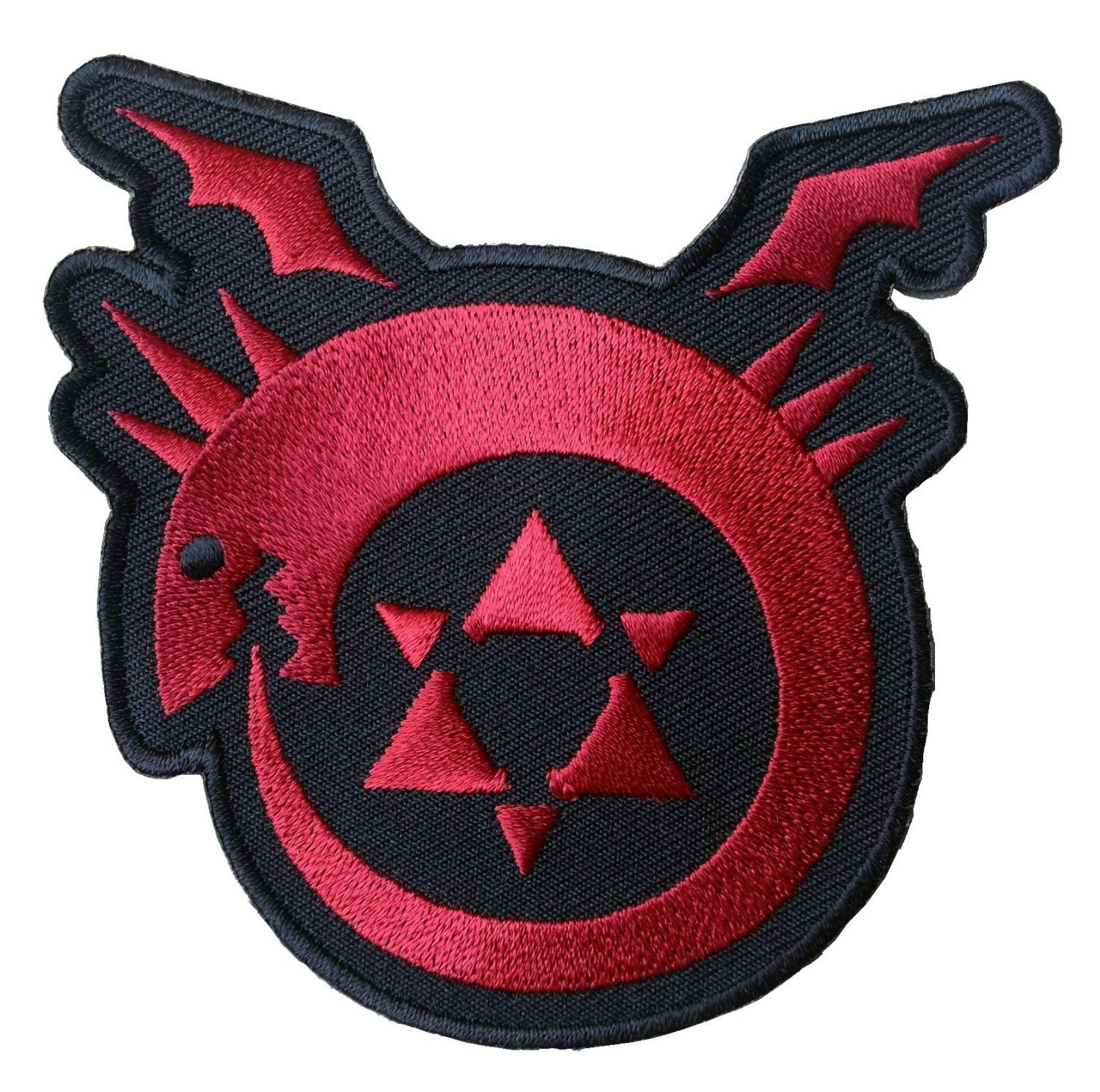Hook Fastener Full Metal Alchemist Brotherhood Uroboros Logo Patch By Titan One Europe