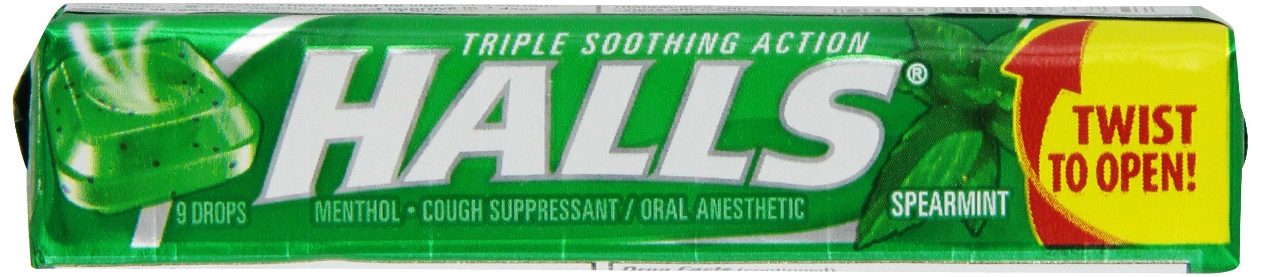 Halls Spearmint,  9 drop sticks (pack of 20)