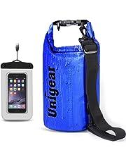Unigear Dry Bag, wasserdicht Taschen mit Handy Dry Tasche und lang Verstellbarer Schultergurt für Boot und Kajak, Angeln, Rafting, Schwimmen, Camping und Snowboarden, MEHRWEG
