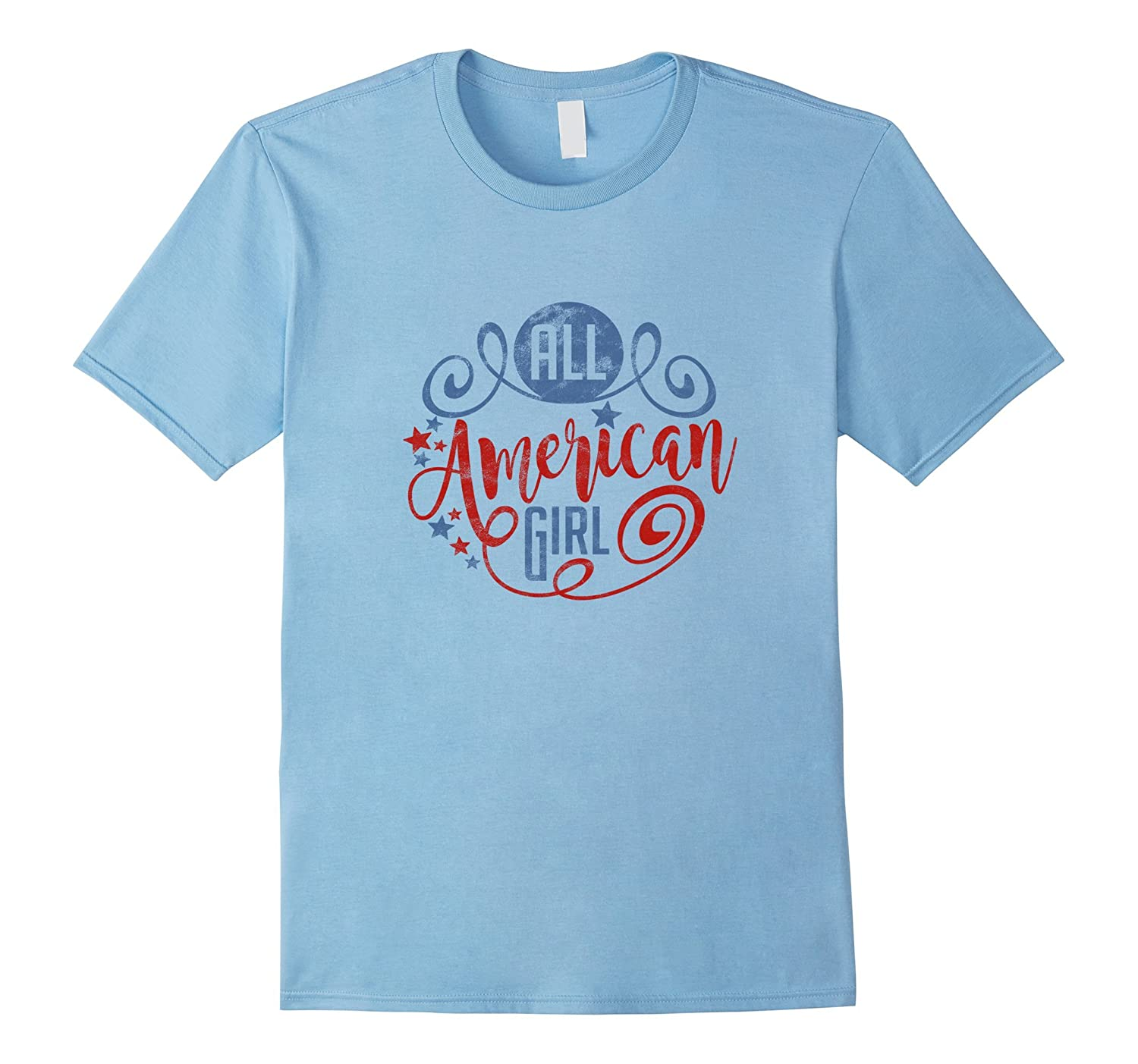 All American Girl T-Shirt Vintage Texture-PL