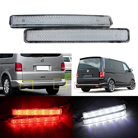 bslighting VW TRANSPORTER T5 Caravelle, Multivan parachoques reflector LED cola freno Detener luz