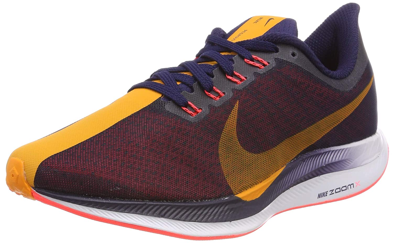 separation shoes cd291 838d7 NIKE Women's WMNS Zoom Pegasus 35 Turbo, Blackened Blue/Orange Peel, 10 US