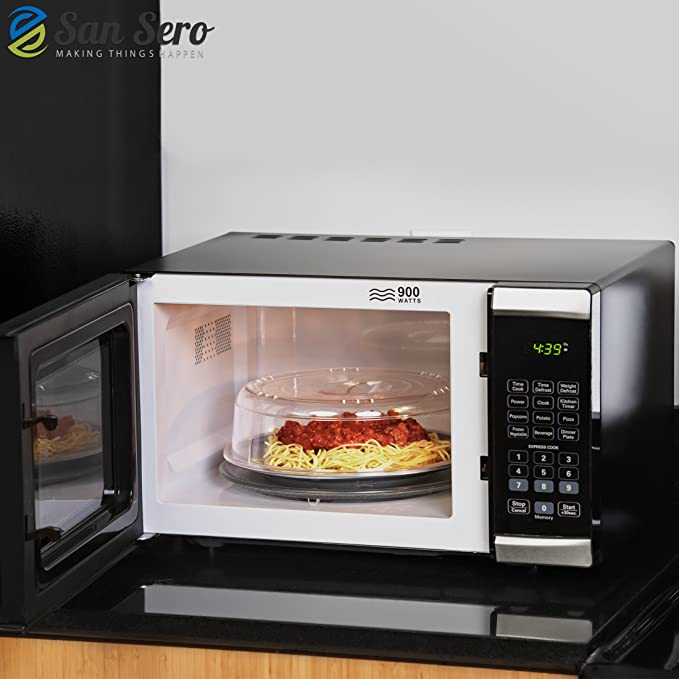 Tapa Microondas con Ventilación - Calienta tus Comidas sin Salpicaduras - Ahorra un 66% de Energía - 26 cm de Diámetro: Amazon.es: Hogar