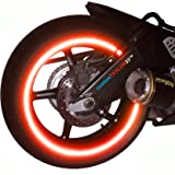 "customTAYLOR33 (All Vehicles) Red High Intensity Grade Reflective Copyrighted Safety Rim Tapes (Must select your rim size), 17"" (Rim Size for Most SportsBikes)"
