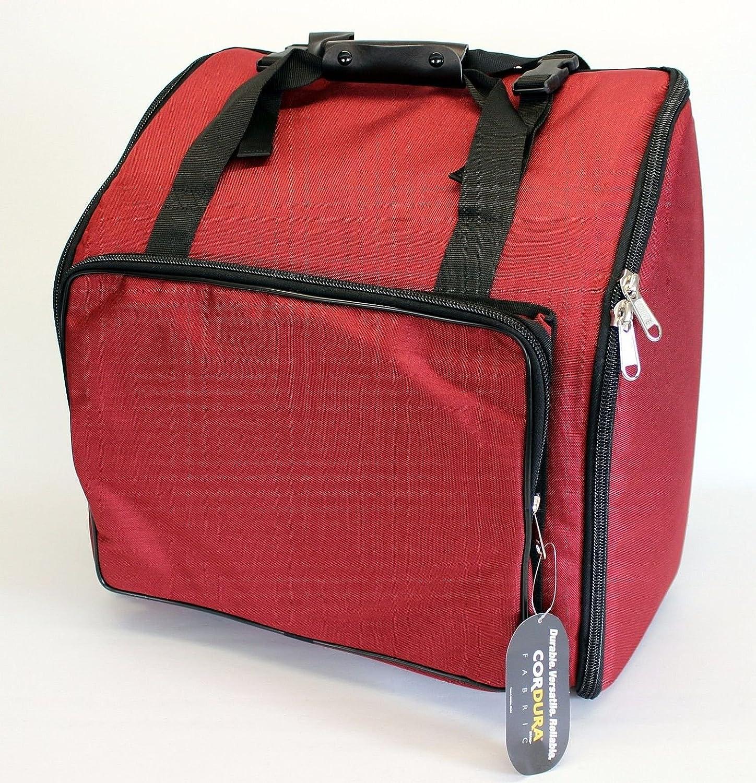 Steirische Harmonika Tasche Rucksack DELUXE-PRO Rot 4-reihig VMS