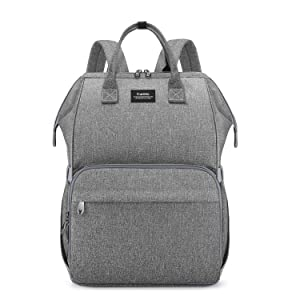 CURMIO Breast Pump Bag Backpack with Inner Divider Compatible for Spectra S1, S2, Medela, Pumping Tote with Compartment for Cooler Bag, with Padded Laptop Sleeve for Working Moms, Patent Design. Grey