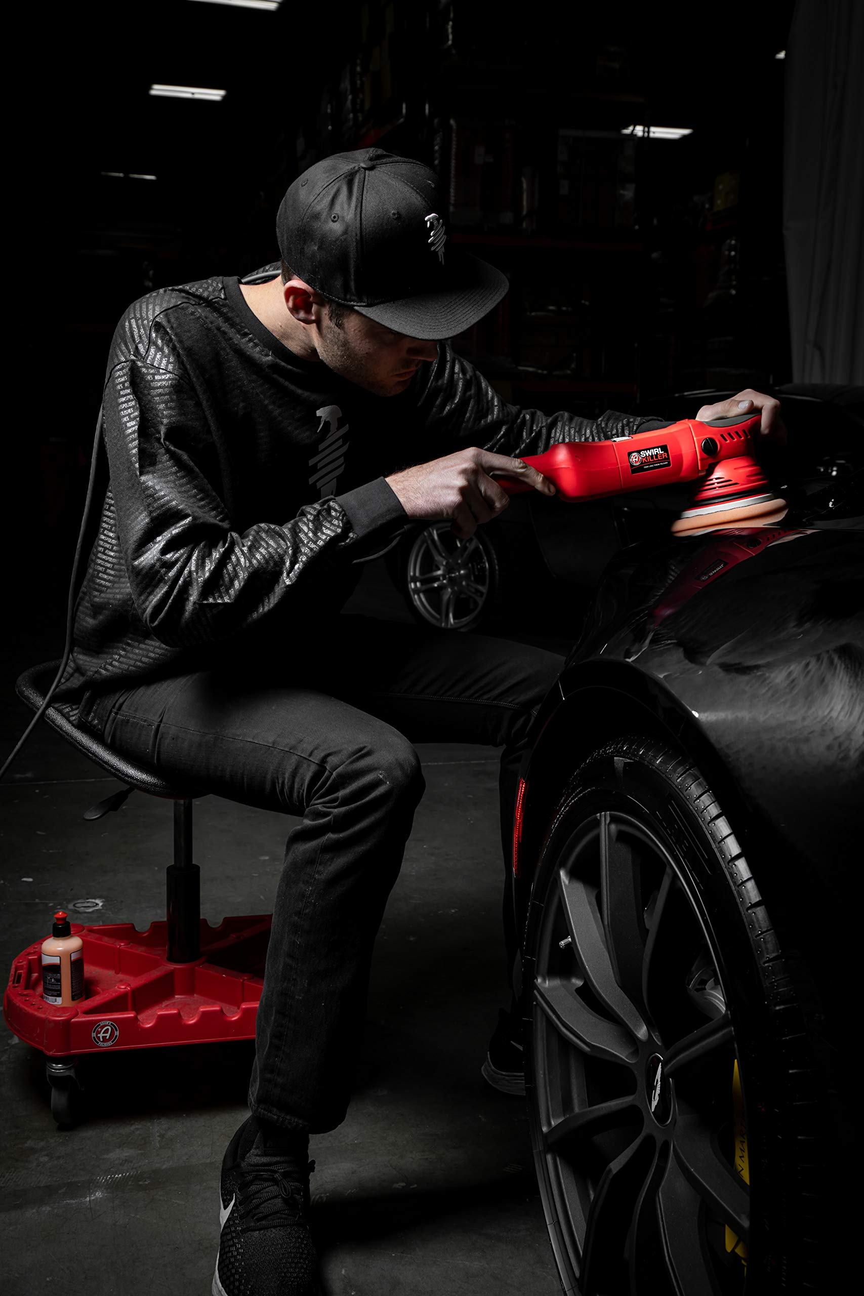 Adam's ProStool Detailing Creeper - Ergonomically Designed for Comfort and Functionality - Adjustable Height and Heavy Duty Rolling Wheels - Comfortably Detail or Paint Correct Any Vehicle by Adam's Polishes (Image #4)