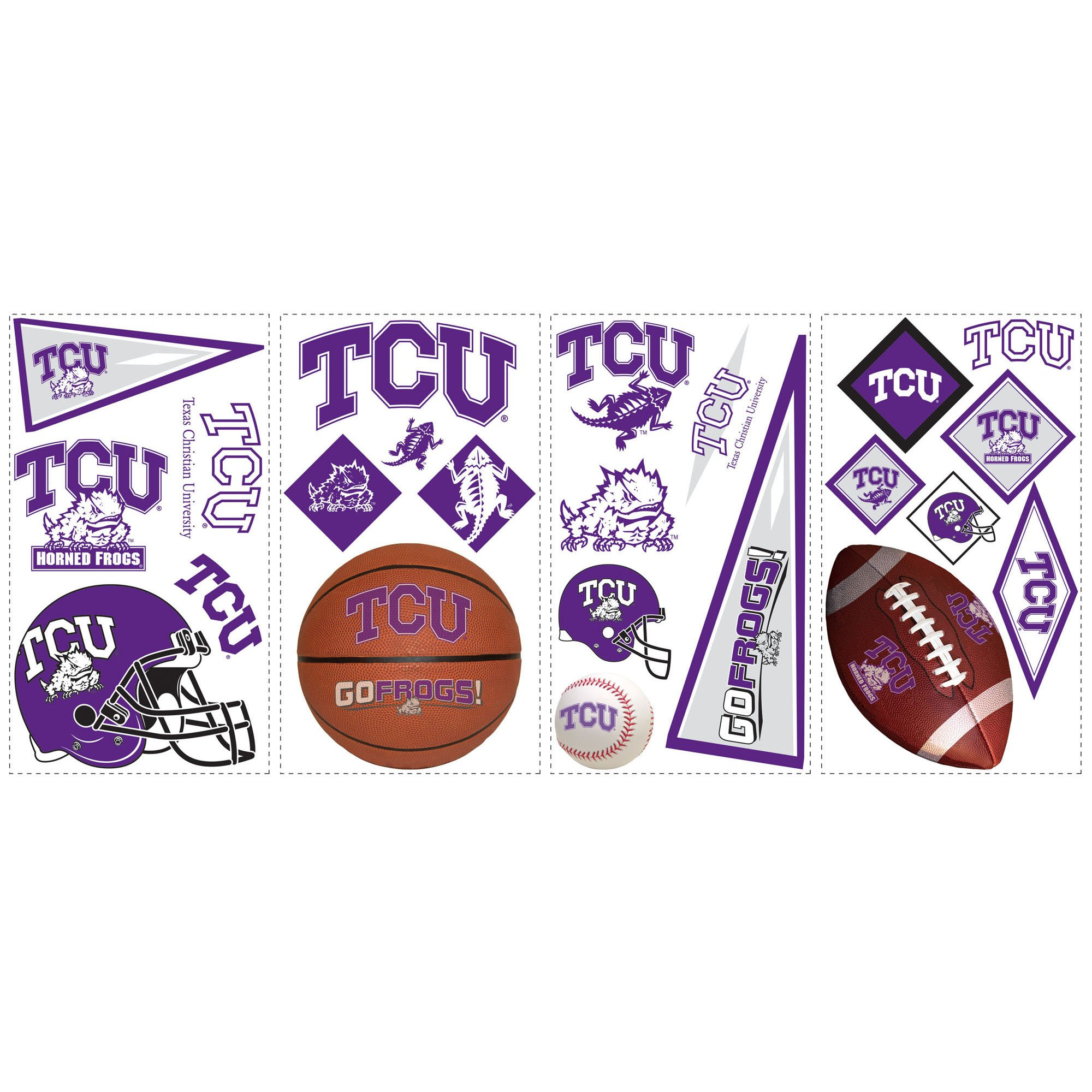 RoomMates RMK1110SCS Texas Christian University Peel & Stick Wall Decals by RoomMates